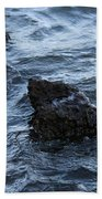 Water And A Rock Beach Towel
