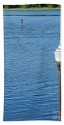 Water And Light Beach Towel