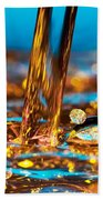 Water And Oil Beach Towel by Setsiri Silapasuwanchai