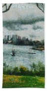 Water And Scenery Beach Towel