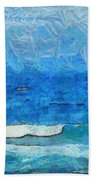 Water And Sky Beach Towel
