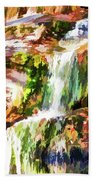 Water Cascading Beach Towel