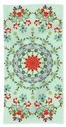 Water Color Garden Kaleidoscope Beach Towel