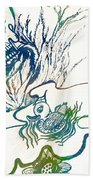 Water Color Poster Of Good And Evil Beach Towel