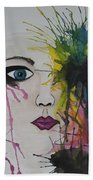Water Colour - Face Beach Towel