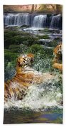 Water Fight Beach Towel