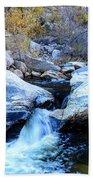 Water Flowing Through Rock Formation In Sabino Canyon II Beach Towel