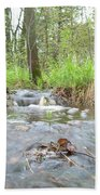 Water Flows After A May Rain Beach Towel