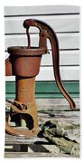 Water Hand Pump Beach Towel