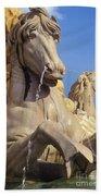 Water Horse Sculpture Beach Towel
