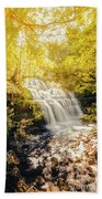 Water In Fall Beach Towel