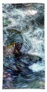 Water In Motion Beach Towel