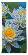 Water Lilies 12 - Fire And Ice Beach Towel