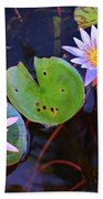 Water Lilies In Kauai Beach Towel