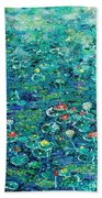 Water Lilies Lily Pad Lotus Water Lily Paintings Beach Towel