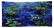 Water Lilies Magic Beach Towel