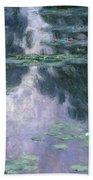 Water Lilies, Nympheas, 1907 Beach Towel