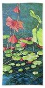 Water Lillies 1 Beach Sheet