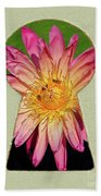 Water Lily Keyhole Beach Towel