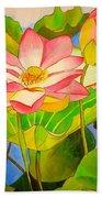 Water Lily Lotus Beach Sheet
