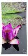 Water Lily With Rain Drops Beach Towel