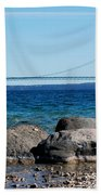 Water Line Sky Line Beach Towel