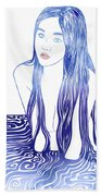 Water Nymph L Beach Towel