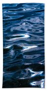 Water Ripples On Surface Beach Towel
