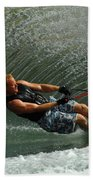 Water Skiing Magic Of Water 11 Beach Towel by Bob Christopher