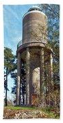 Water Tower In Malmi Cemetery Beach Towel