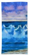 Water Unicorns Beach Towel