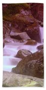 Water Winding Through Rocks Beach Towel
