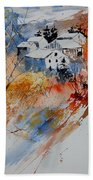 Watercolor  011012 Beach Towel