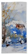 Watercolor  011020 Beach Towel