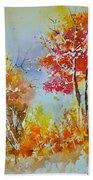 Watercolor 011121 Beach Towel