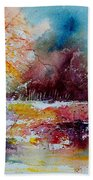 Watercolor 140908 Beach Towel