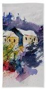 Watercolor 231207 Beach Towel