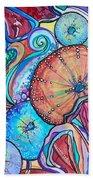 Watercolor #4 Sea Urchins Beach Towel