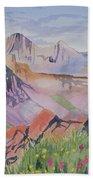Watercolor - Blanca And Ellingwood Landscape Beach Towel