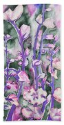Watercolor - Cherry Blossoms Beach Towel