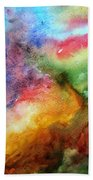 Watercolor Collage Beach Towel