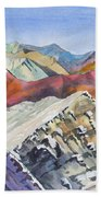 Watercolor - Colorado Elk Range View Beach Towel