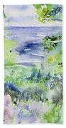 Watercolor - Lake Superior Impression Beach Towel