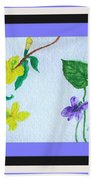 Watercolor Of Wild Flowers Beach Towel