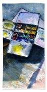Watercolor Pallet Beach Towel