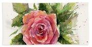 Watercolor Rose Beach Sheet