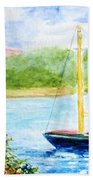 Watercolor Sail Beach Towel