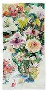 Watercolor Series 1 Beach Towel