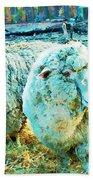 Watercolor Sheep Beach Towel