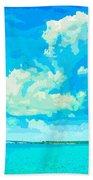 Watercolor Spring On Sarasota Bay Beach Towel